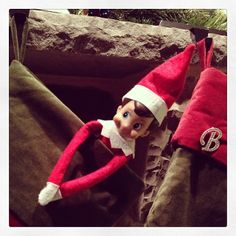 Elf on the shelf: If the stocking fits.