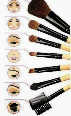 ❤Claire BeautySecrets❤: Pennelli: forme ed utilizzo https://www.pinterest.com/pin/571464640195775008/