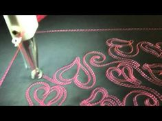 #FMQ201 (Video #62 - Lydias Hearts) Longarm Free Motion Quilting Video - YouTube