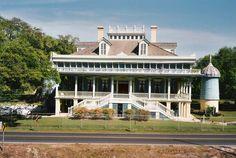 San Francisco Plantation House (front elevation), Reserve, St. John the Baptist Parish, Louisiana