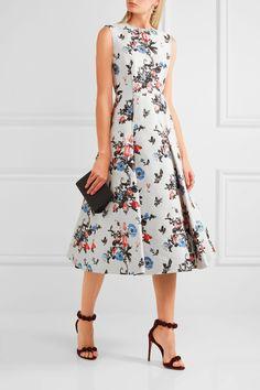 VALENTINO Pleated brocade midi dress
