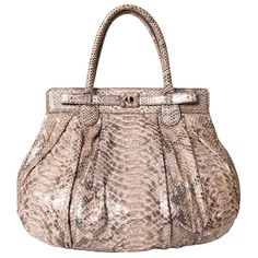 62887500b0cc Labellov Vintage Zagliani Large Puffy Python Bag ○ Buy and Sell Authentic  Luxury