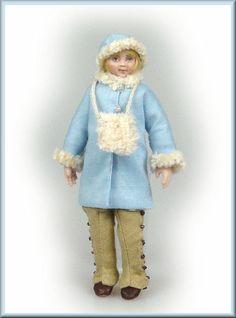 catriona hall dolls Dollhouse Dolls, Miniature Dolls, Originals, Miniatures, Winter, Fashion, Winter Time, Moda, Fashion Styles