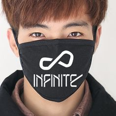 2017 new Black INFINITE Wings Anti-Dust Cotton Mouth Mask kpop INFINITE collective Masks k-pop Face mouth-muffle face respirator
