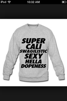 A Swag Sweater! Lol