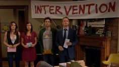 Intervention Banner | HIMYM | Ted | Robin | Marshall | Lilly | Barney