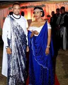 Image may contain: 2 people, people standing African Print Wedding Dress, African Wedding Attire, Ghana Traditional Wedding, Traditional Fashion, African Print Fashion, Africa Fashion, All White Party Outfits, Nigerian Dress, African Wear Dresses