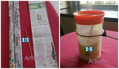 How to make Newspaper weaving art for kitchen - Art & Craft Ideas Easy Crafts, Diy And Crafts, Arts And Crafts, Plant Wall Decor, Newspaper Crafts, Paper Basket, Kitchen Art, Kitchen Design, Weaving Art