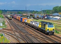 RailPictures.Net Photo: 70007 Freightliner class 70 at Eastleigh, United Kingdom…