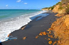 One of the Most Dramatic & Beautiful Beaches in Vieques, Puerto Rico Vieques, Puerto Rico  >  Vieques Puerto Rico Beaches > Playa Negra / Black Sand Beach, Vieques You don't have to fly a...