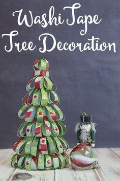 Washi Tape Christmas Tree project #CraftAmazing AD #CollectiveBias