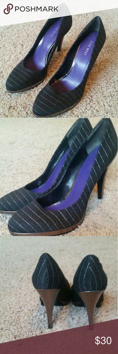 Shoes Adorable pinstripe heels. Gently used. Great condition. Nine West Shoes Heels