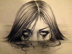 Creep woman face tattoo design idea