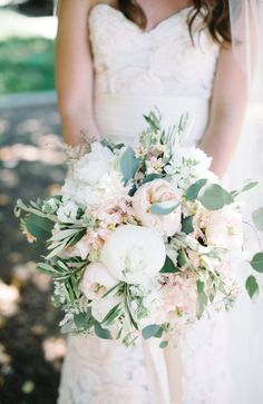 Featured Photographer: John Schnack Photography, Featured Event Planner: Très Chic Affairs; Lovely blush and white wedding bouquet