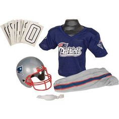 Check out this New England Patriots Jersey Youth Medium Uniform Set NFL Football Helmet Gift in Sports Mem, Cards & Fan Shop, Fan Apparel & Souvenirs, Football-NFL Nfl Football Helmets, Football Uniforms, Football Boys, Football Outfits, New England Patriots Football, Patriots Fans, Football Player Halloween Costume