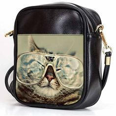 6f31a275ea72 FUNNY CAT WITH EYEGLASSES Sling Bag Crossbody Women Shoulder Bags Leather  #fashion #clothing #shoes #accessories #mensaccessories #bags (ebay link)