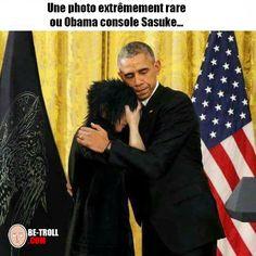 Obama qui réconforte Sasuke ! - Be-troll - vidéos humour, actualité insolite