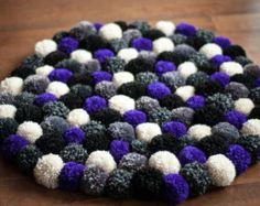 purple and green wool pom pom - Google Search