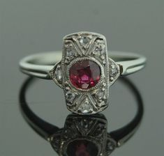 Antique Ruby Ring like the one worn by Deedra Lazzard in Stuart Brannon's Final Shot by award winning author Stephen Bly.