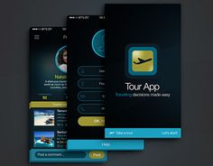 "Check out new work on my @Behance portfolio: ""Travel & Tour App (Dark Theme)"" http://on.be.net/1Jd186i"