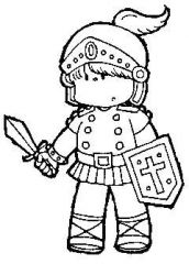 Color your own armor of god bookmarks