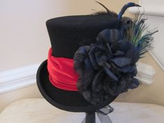 Black Top Hat Stevie Nicks Inspired  Classic by MoonbeamEmporium