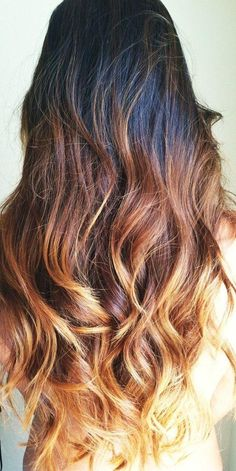 long ombre, hair, hair style For the SUMMER! Diy Ombre Hair, Long Ombre Hair, Brown Ombre Hair, Ombre Hair Color, Blonde Ombre, Dark Ombre, Light Ombre, Brown Blonde, Golden Blonde