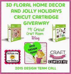 My Cricut Craft Room: Cricut Cartridge giveaway and Design team call