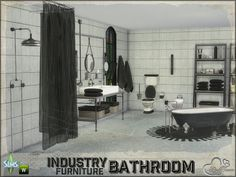 Sims 4 CC's - The Best: Bathroom Industry - Furnitures by BuffSumm