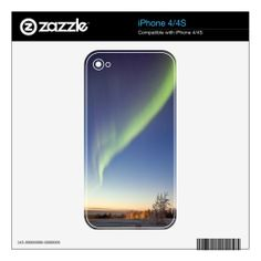 Fantastic Aurora of Norway - iPhone 4/4S Skin iPhone 4S Decal