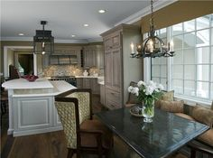Open Traditional Kitchen by Susan Fredman  on HomePortfolio