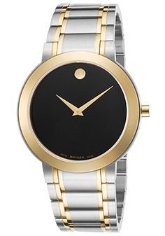 67% Off Movado Men's Stiri Stainless Steel and Gold-Tone Stainless Steel Black Dial Watch
