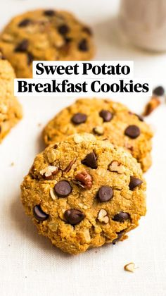 Healthy Cookie Recipes, Healthy Cookies, Vegan Breakfast Recipes, Healthy Desserts, Baking Recipes, Delicious Desserts, Yummy Food, Tasty, Sweet Potato Breakfast