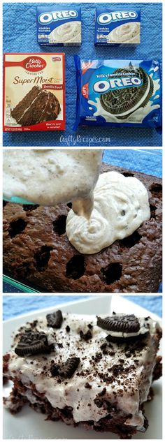 This oreo pudding poke cake is my favorite dessert recipe for summer!!