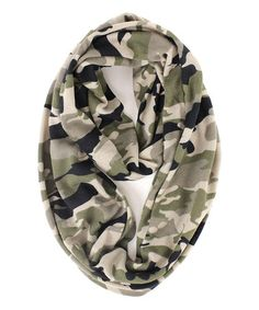 Another great find on #zulily! Olive Camouflage Infinity Scarf by RQ #zulilyfinds