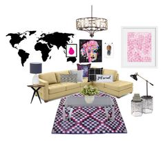 """""""""""Just Be Cool"""" Contemporary Eclectic Living Room! #AOinteriors"""" by ashleyoparnica on Polyvore featuring interior, interiors, interior design, home, home decor, interior decorating, Kate Spade, iCanvas, BYRON and La Pina"""