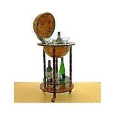 Italian Sixteenth Century Globe Bar Liquor Cabinet Pub Wine Storage Furniture