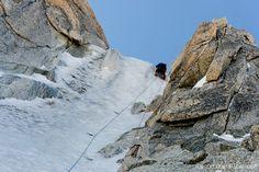 Guido leading #ChereCouloir #pitch5 #chamonix #montblanc #mountains #alpine #climbing #nikon #d600 #24-85mm #peakdesign #capturepro