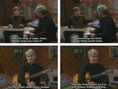 Take this lump of sugar baby! British Humour, British Comedy, Best Tv Shows, Favorite Tv Shows, Haha Funny, Hilarious, Father Ted, Sugar Baby, Me Tv