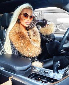 Dark Makeup Looks, Fur Fashion, Womens Fashion, Girls Driving, Leder Outfits, Fox Fur Coat, Pinterest Fashion, Cute Fall Outfits, Fur Collars