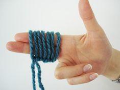Tricotin.com : Tricot avec les doigts Lecon No 2