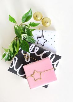 DIY Yarn Wrapped Star Gift Toppers