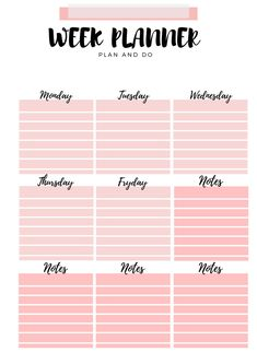 :' My week planner ':. Daily Planner Pages, Planner Book, Weekly Planner Template, Printable Planner, Bullet Journal Ideas Pages, Bullet Journal Inspiration, Week Planer, Life Hacks For School, Student Planner