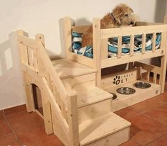 Your Furbaby will love one of these Pet Bunk Beds and they are very easy to recreate. Check out all the FREE plans and the homemade Dog Feeders too!