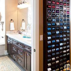 ideas walk in closet for men tie rack Walk In Closet Design, Closet Designs, Linen Closet Organization, Closet Storage, Office Organization, Tie Storage, Closet Hacks, Pharmacy Design, Tie Rack
