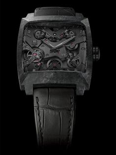 TAG Heuer Monaco V4 Phantom Watch In Carbon Matrix Composite