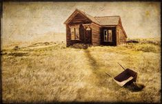 """""""The work was finished long ago"""" A Composite of 5 images with two of our """"Photomorphis Texture Bites"""" of an old abandoned home in Bodie, CA."""