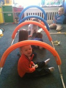 """Did you know that the noodles fit perfectly with 1/2"""" PVC pipe? They are fantastic for adding to our building set."""