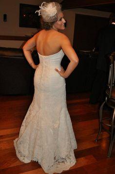 bride in size 8 oleg cassini Wedding Dress Bustle, Wedding Dress Sizes, Sexy Wedding Dresses, Wedding Gowns, Lace Wedding, January Wedding, Recycled Bride, Professional Dresses, Dream Wedding
