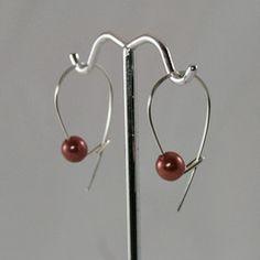 ecocessories - Aubergine Pearl Everyday Earrings